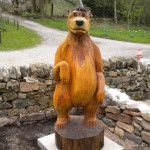 Chainsaw carved Ballo styled bear 7ft